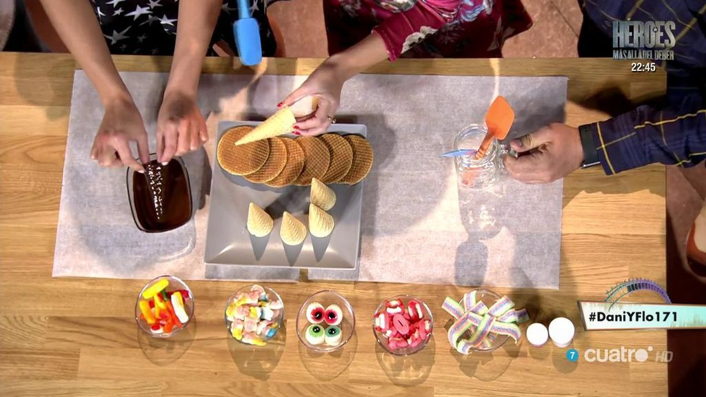La 'receta halloween' de Cristina Plaza: sombreros de bruja de chocolate