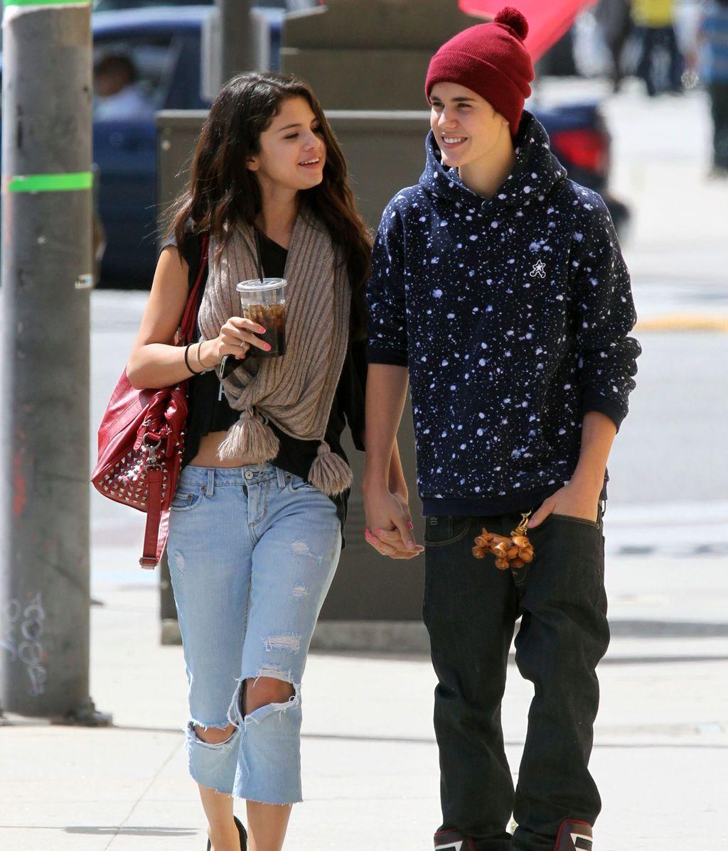 Selena Gomez y Justin Bieber cuando eran pareja