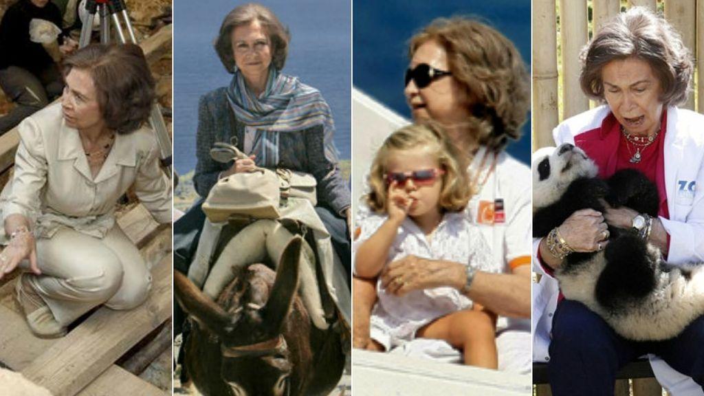 Cree en los ovnis, es pescetariana y le flipa la arqueología: la Reina Sofía, en 7 datos 'freak'
