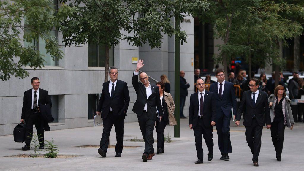 Siete exconsejeros del Govern llegan a la Audiencia Nacional