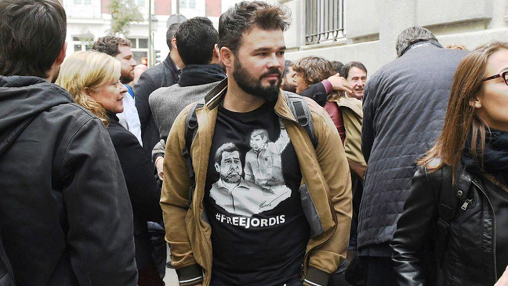 """Rufian ante el TS sobre Puigdemont: """"Me parece que es bastante humano lo que ha hecho"""""""