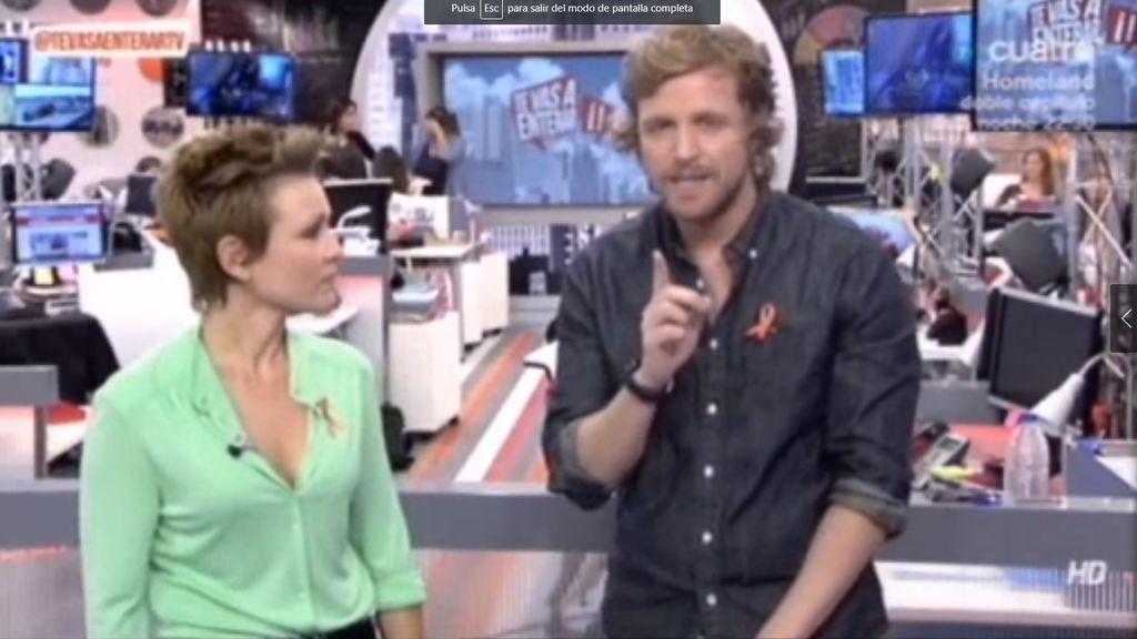 Los presentadores de Mediaset se suman al Día contra el Ictus luciendo el lazo naranja