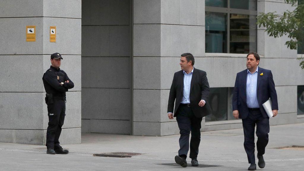 Oriol Junqueras llega a la Audiencia