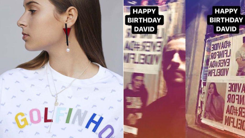 La colección que protagoniza la hija de Bimba con la que Pelayo ha empapelado Madrid: #DavidDelfinForever