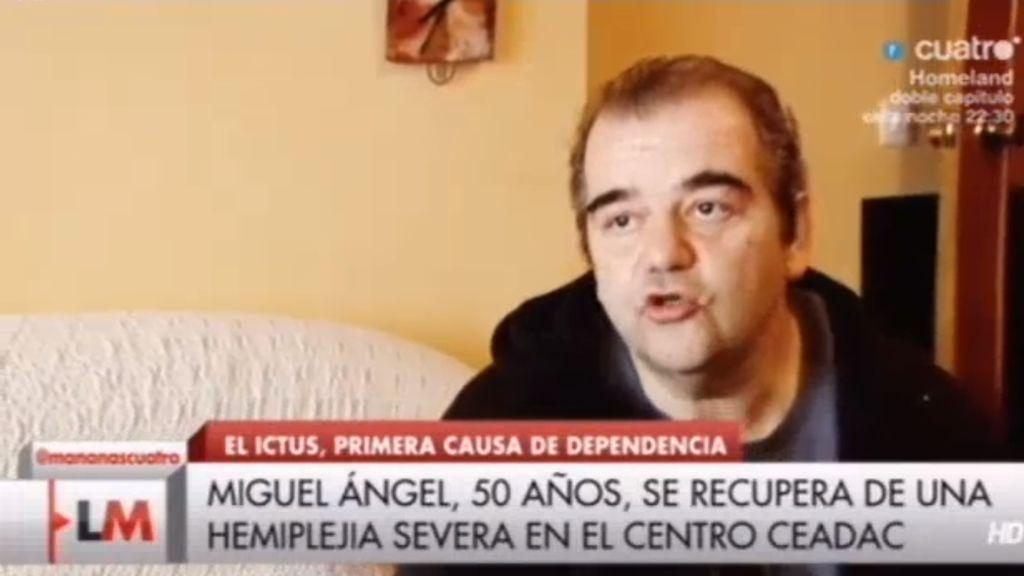 Miguel recupera su vida en el CEADAC tras un ictus