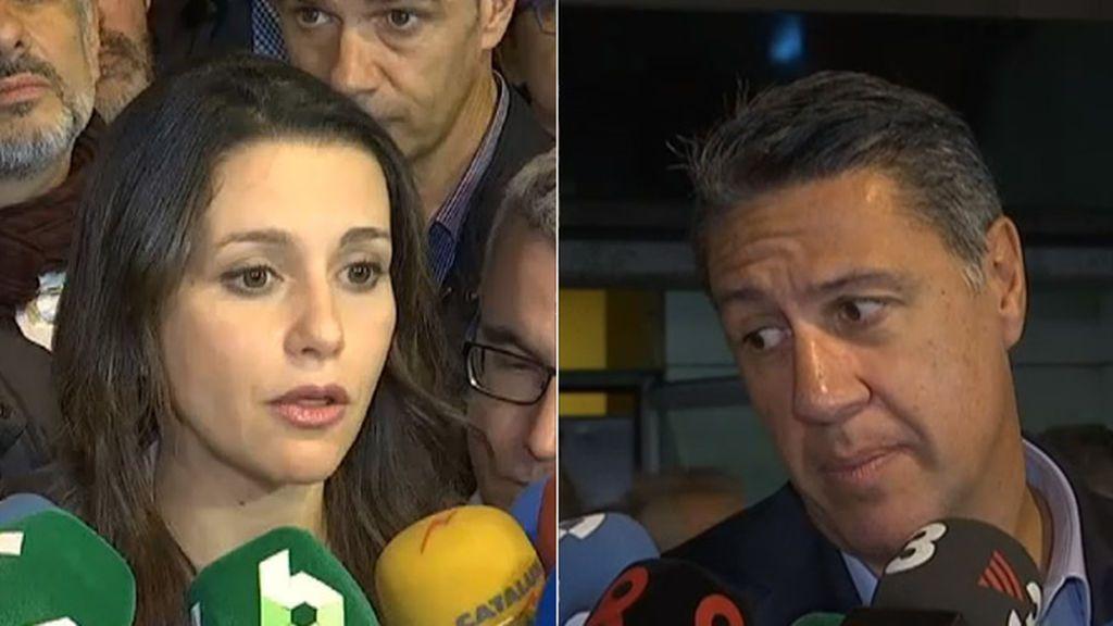 """Cs y PP en Cataluña """"respetan"""" la decisión judicial y piden volver """"a la normalidad"""""""