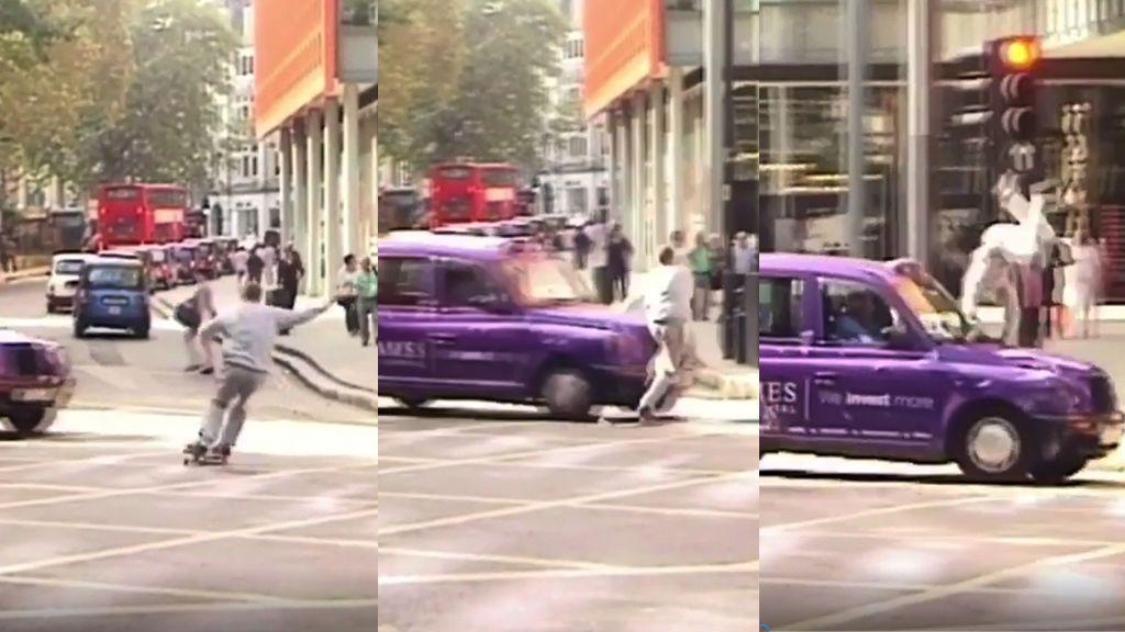 El instante en que un skater es atropellado en Londres mientras grababa un vídeo para Instagram
