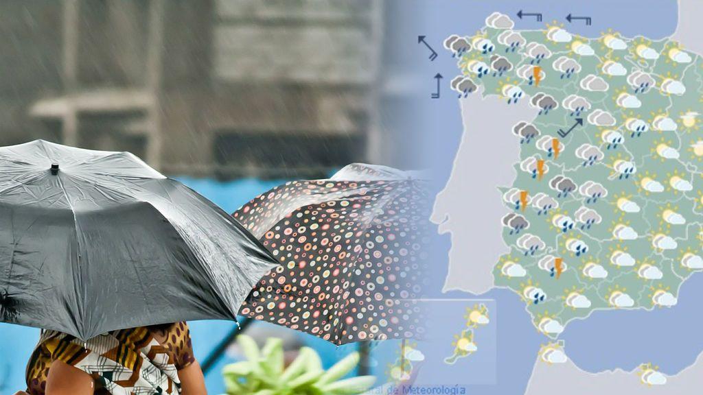 Lloviznas, tormentas y chaparrones: ¿dónde va a llover de verdad estos días?