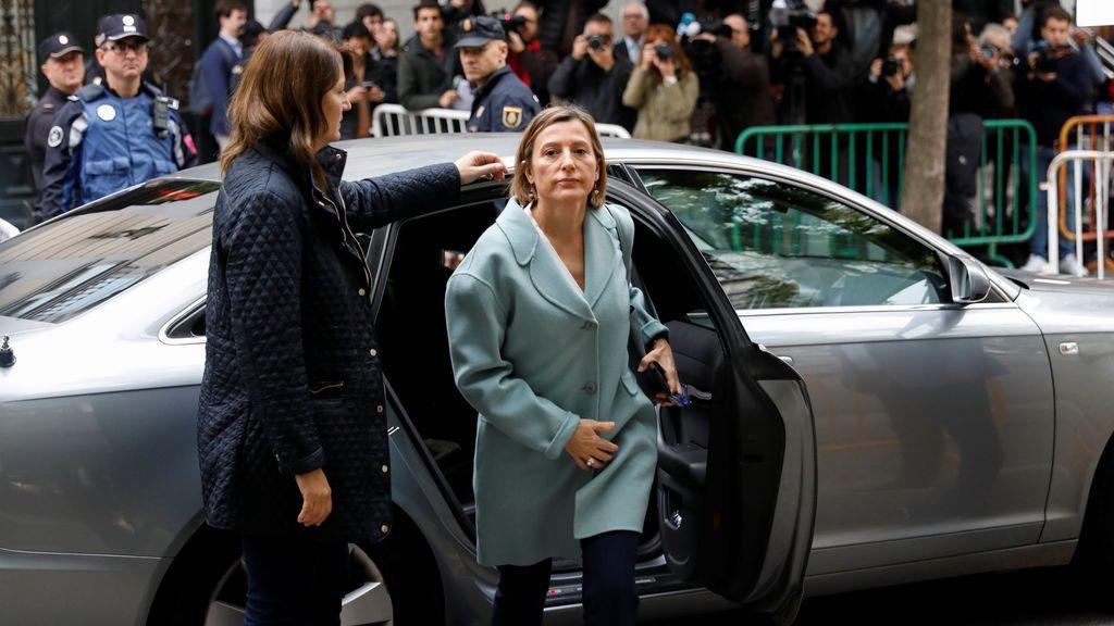 Carme Forcadell llega al Tribunal Supremo