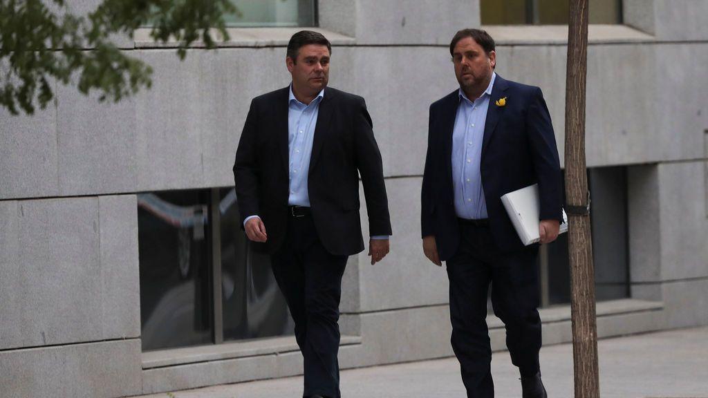 Oriol Junqueras llega a la Audiencia Nacional