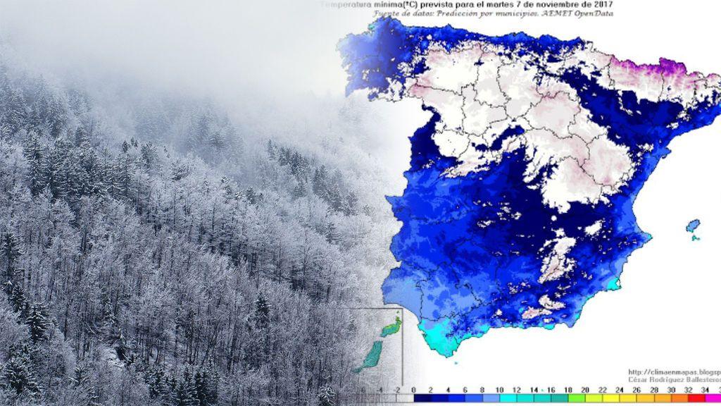 Frío, mucho frío: llega la primera gran nevada del otoño
