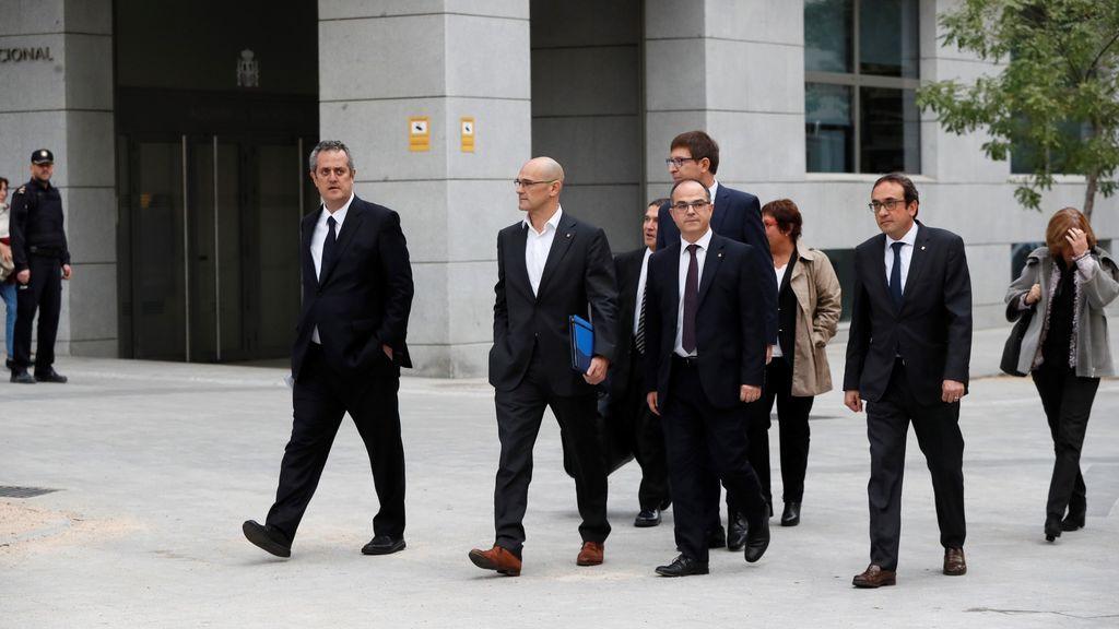 Los exconsellers del Govern llegan a la Audiencia Nacional