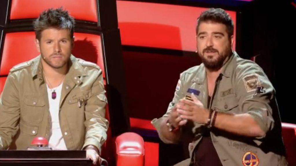 El 'coach' de 'La voz 5' Pablo López y su asesor, Antonio Orozco