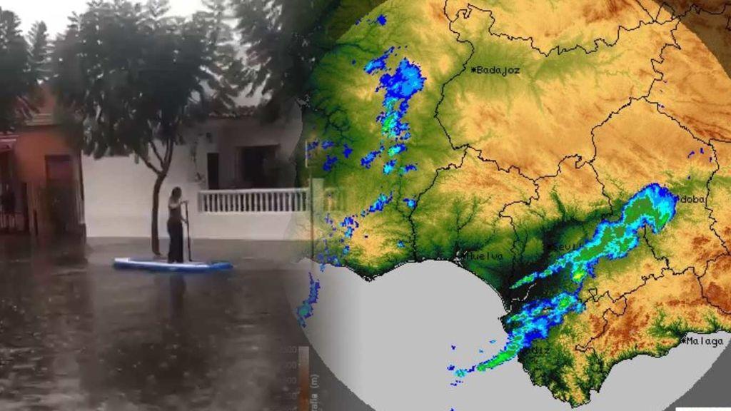 La borrasca acaba de llegar y ya hay inundaciones: las lluvias de Cádiz, en redes