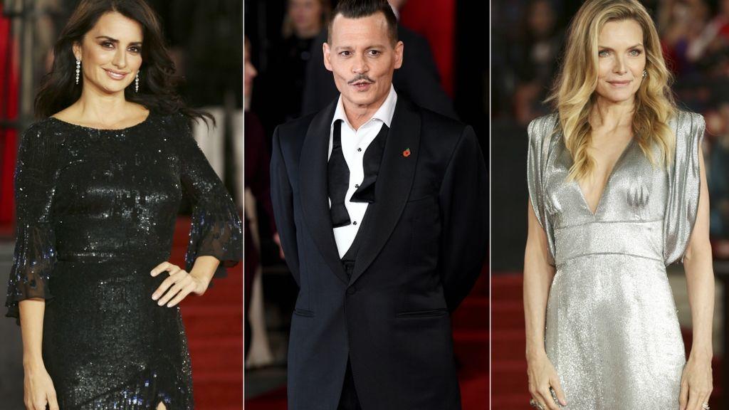 'Photocall en el Orient Express': Cruz, Pfeiffer y Depp, tres divos para una película