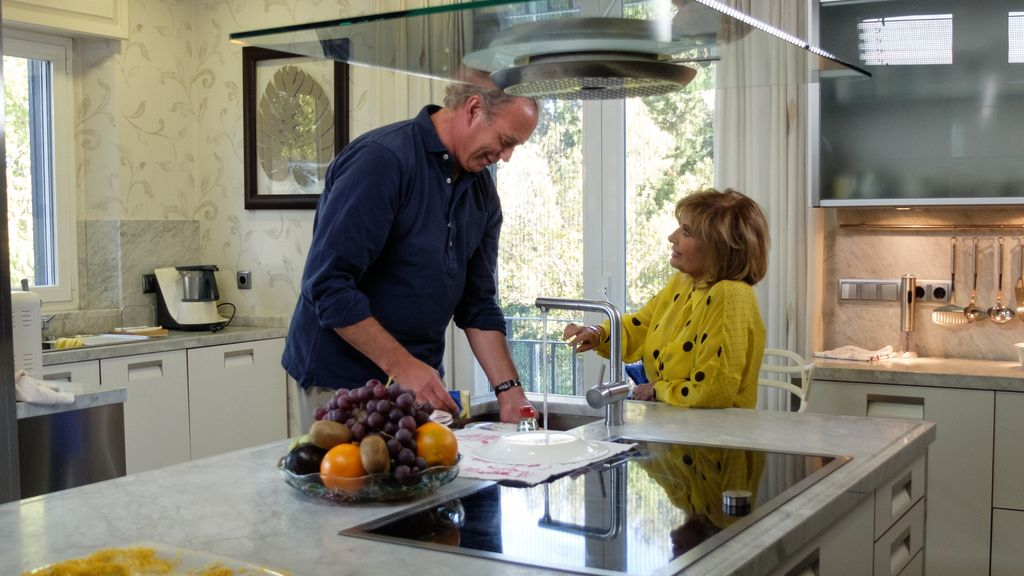María Teresa Campos visita a Bertín Osborne en el programa de Telecinco 'Mi casa es la tuya'