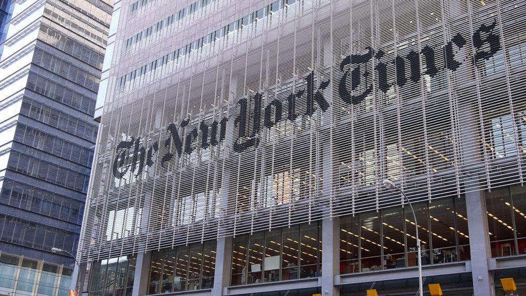 Fachada de la sede del periódico 'The New York Times'