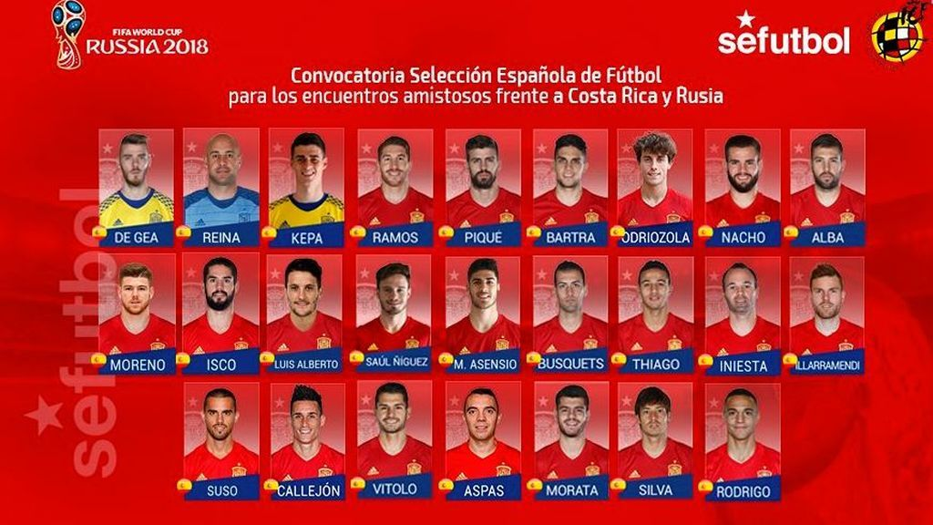 Suso, delantero del Milán, es la gran novedad en la lista de España para Costa Rica y Rusia