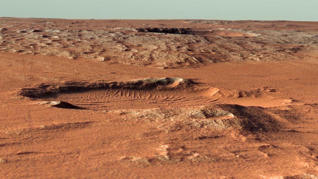 Así es la superficie del desierto de Marte