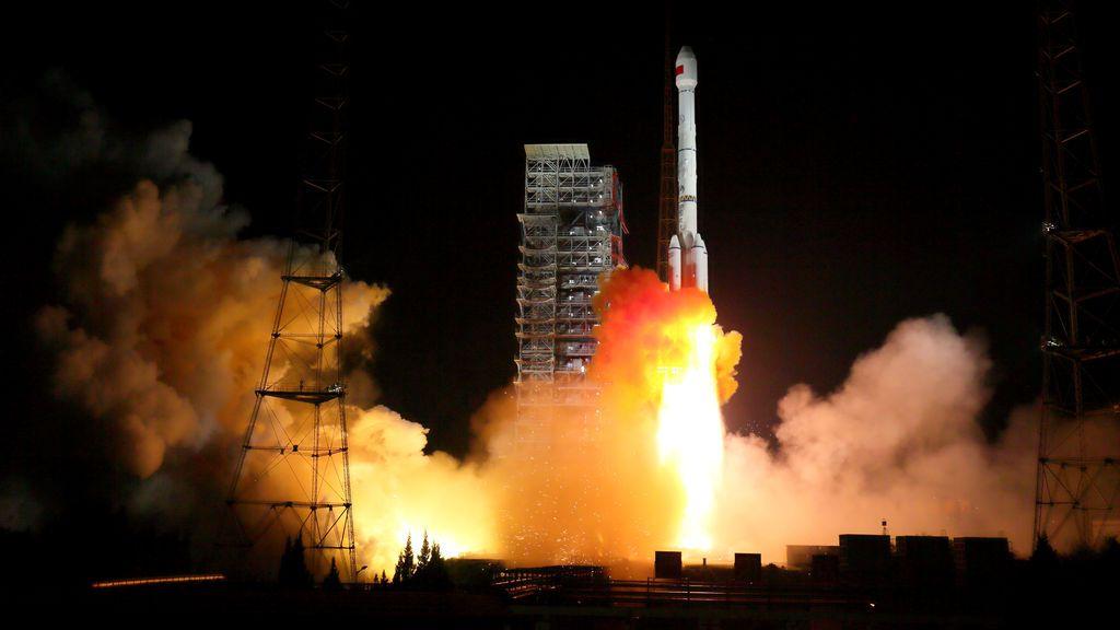 Dos satélites BeiDou-3 a través de un solo cohete portador despegan en el Centro de Lanzamiento de Satélites Xichang, provincia de Sichuan, China