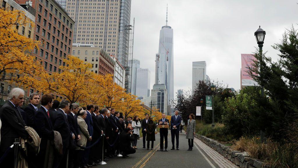 El presidente argentino en la escena del ataque terrorista de Nueva York