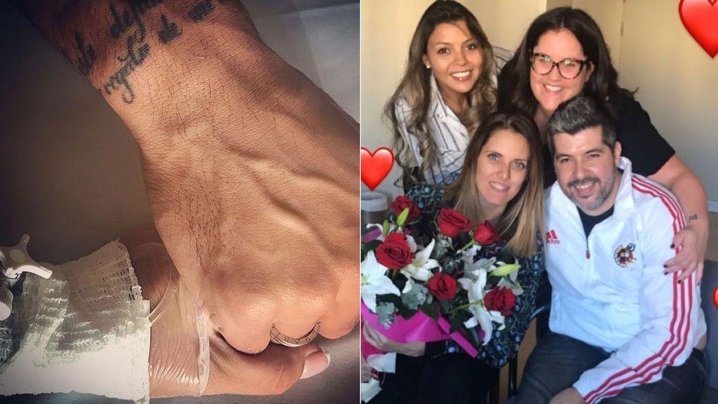 Ezequiel, su 'chupipandi' valenciana... Así apoya el entorno más cercano a Tamara Gorro tras su ingreso hospitalario