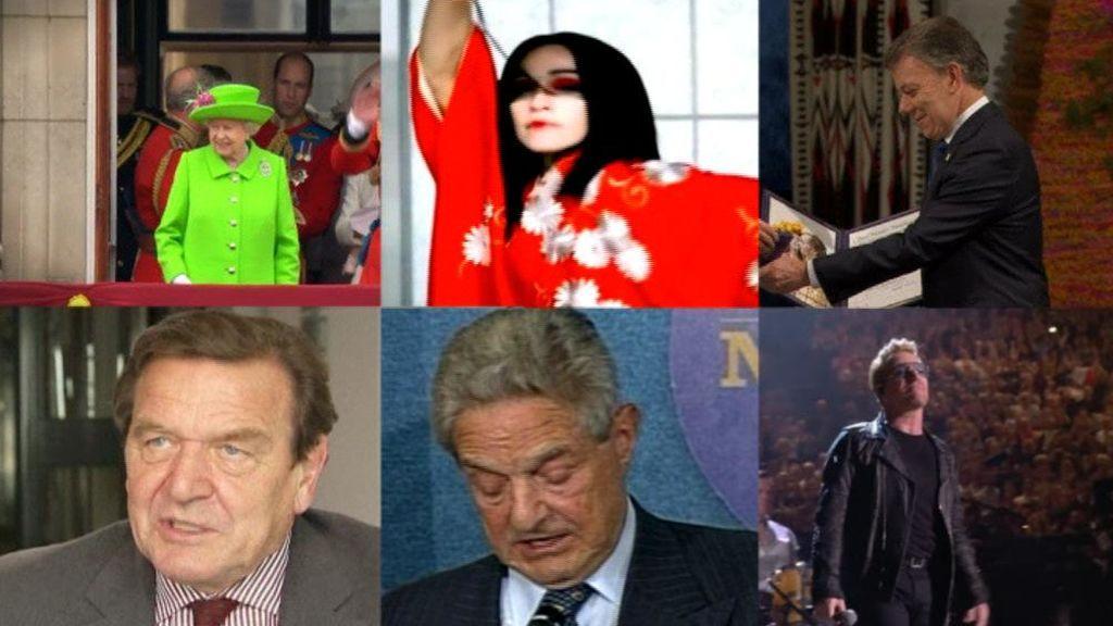 De la reina de Inglaterra a Madonna: Los tocados por los 'Papeles del Paraíso'