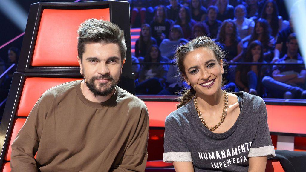 Juanes y Bebe en 'Las batallas' de 'La voz'