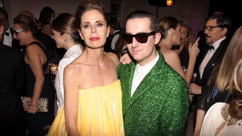 Con Ágatha Ruiz de la Prada, una de las protagonistas de la noche