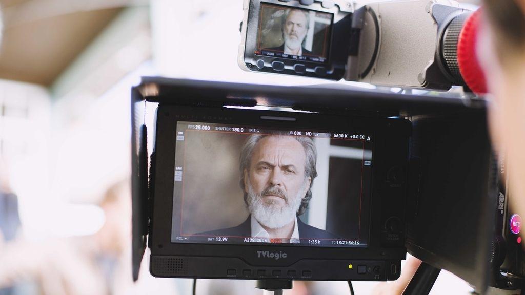 Imágenes del rodaje de la serie de Telecinco 'Vivir sin permiso'
