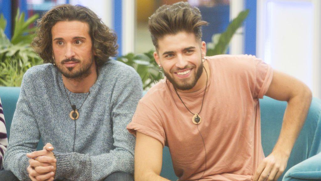 Los concursantes de 'Gran hermano revolution' Christian G. y Rubén.