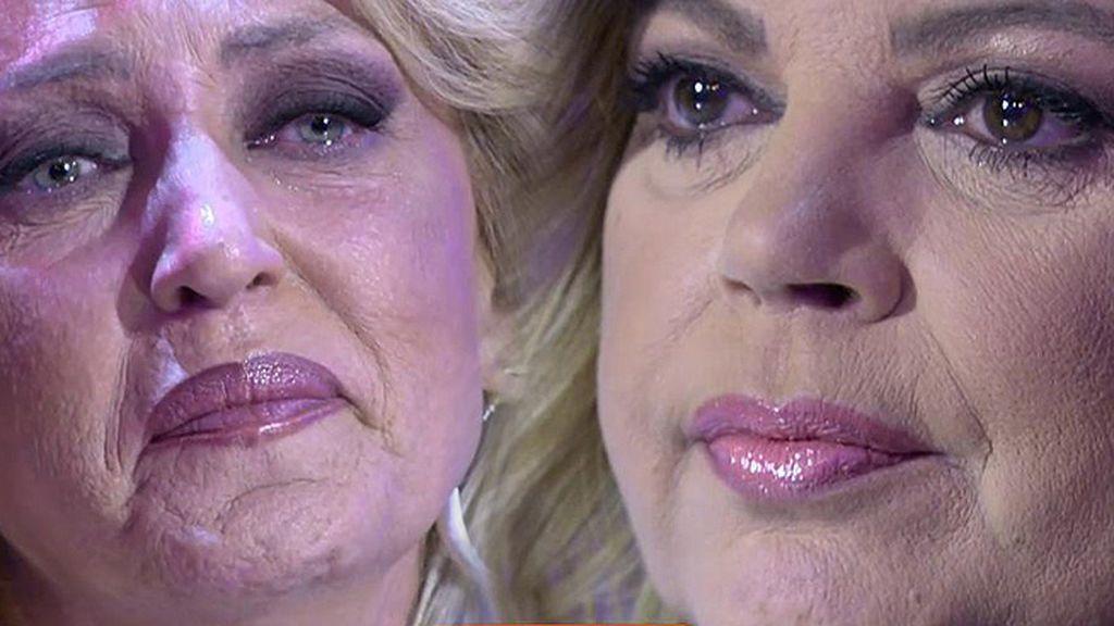 Lydia Lozano y Terelu llorando
