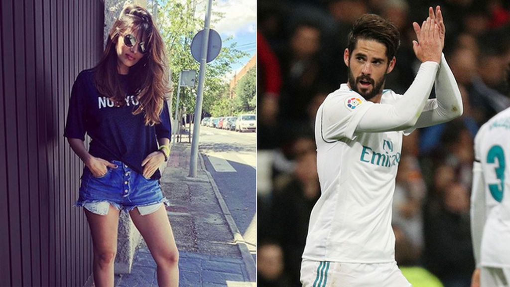 Sara Sálamo ya es una WAG: Las imágenes de la 'amiga' de Isco, en el palco Santiago Bernabéu