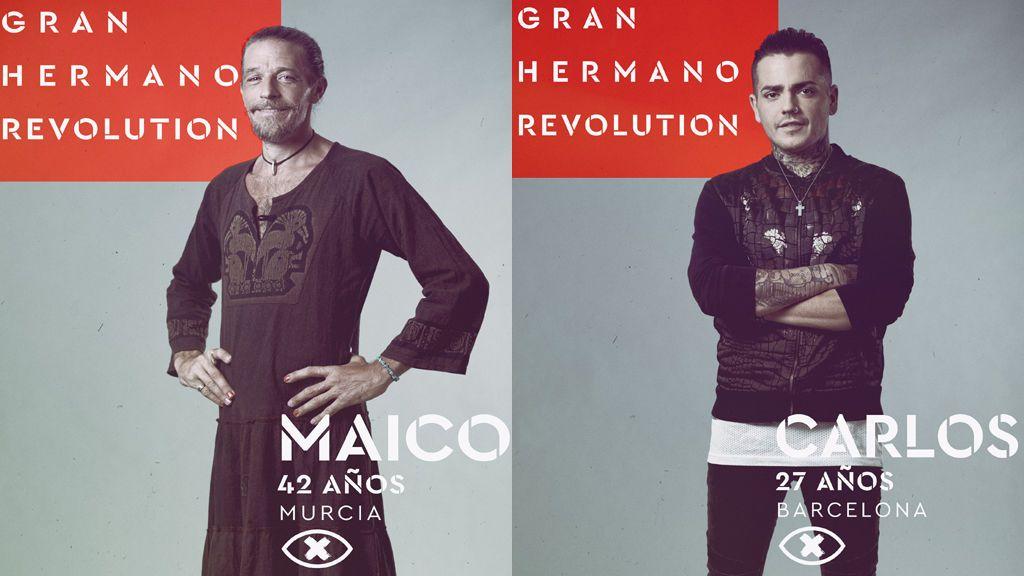 Maico y Carlos, nominados en la gala 9 de 'Gran hermano revolution'.