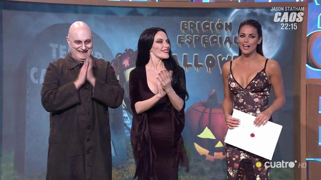 ¡Morticia y Fétido Adams comunican quién es el ganador del Campeonato de Sustos!