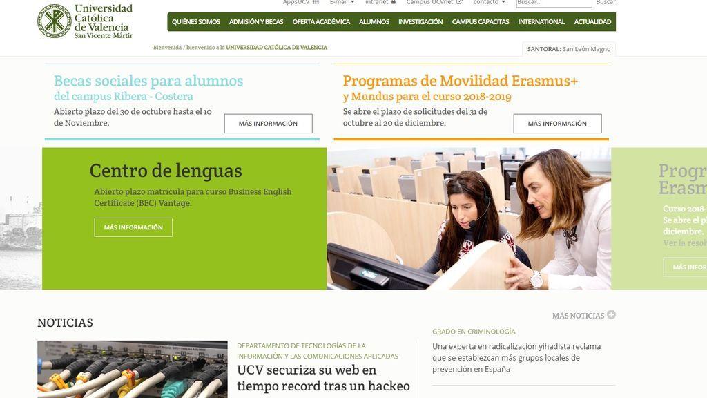 """Un grupo de """"hackers pro-ISIS"""" ataca la página web de la Universidad Católica de Valencia"""