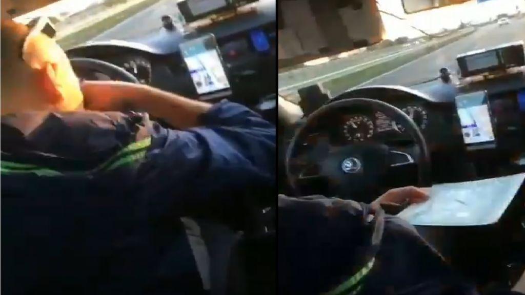 Un taxista de Madrid es grabado consumiendo cocaína mientras conduce