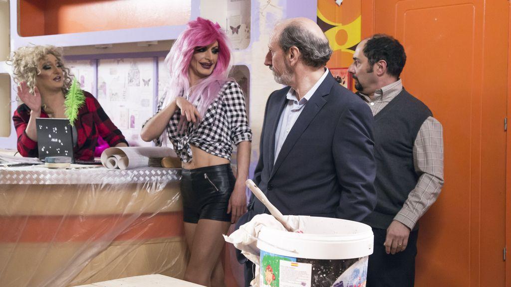 Imágenes del séptimo capítulo de la décima temporada de la serie de Telecinco 'La que se avecina'.