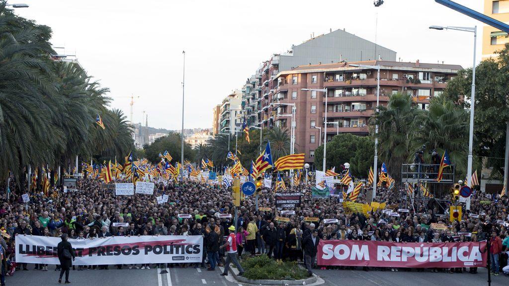 Manifestación para pedir la libertad de los presos