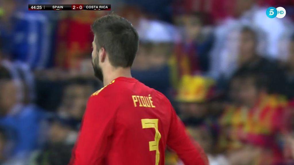 Gerard Piqué vuelve a escuchar pitos con La Roja