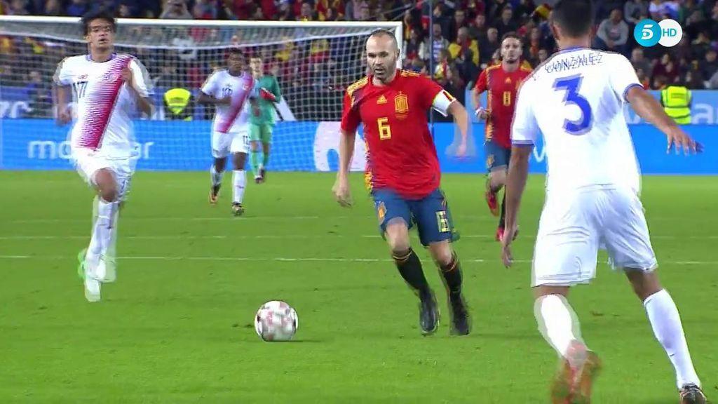 ¡Golazo de Iniesta! Zapatazo para culminar la fiesta de España ante Costa Rica (5-0)