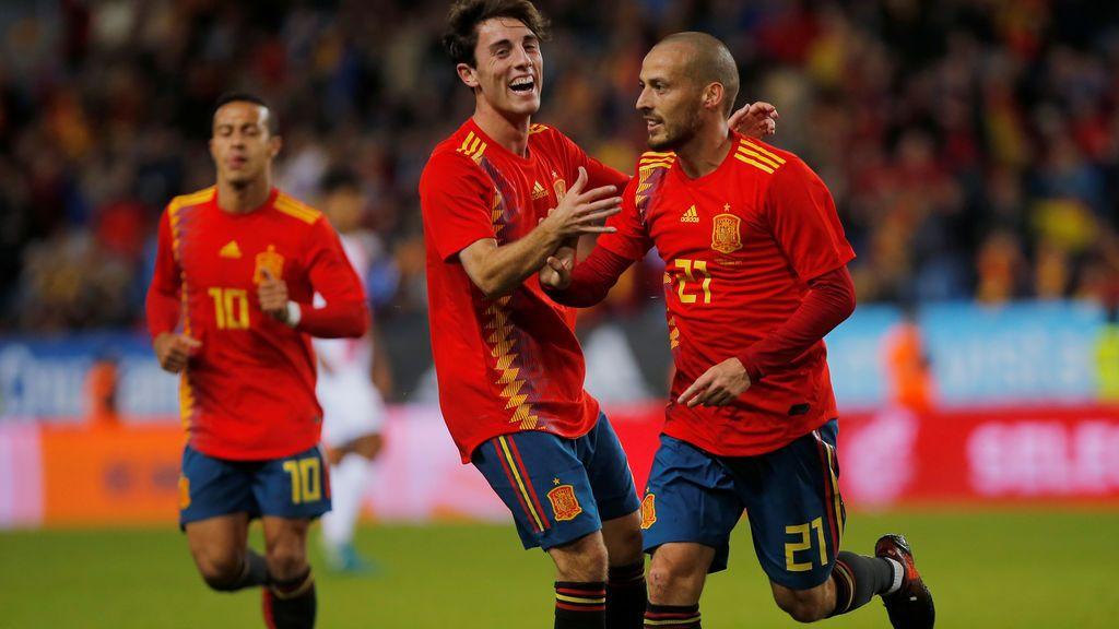 ¡Gol de Silva! El comodín canario de Lopetegui vuelve a marcar con España (3-0)