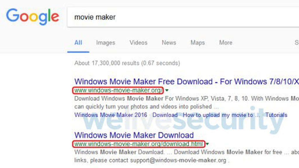 Una versión falsa de Windows Movie Maker que exige dinero ocupa los primeros puestos de búsqueda en Google