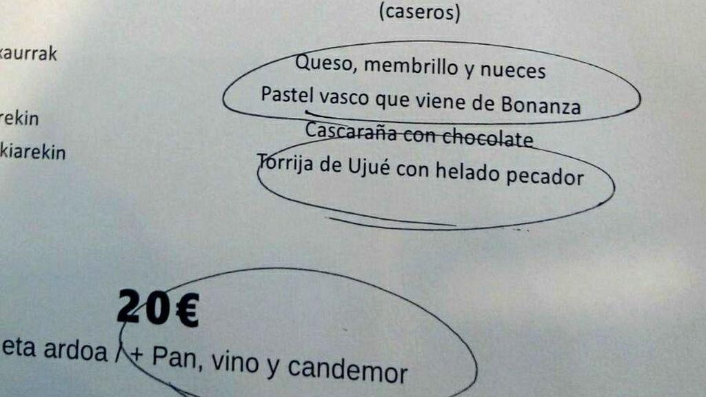 Un restaurante navarro triunfa con este homenaje a Chiquito de la Calzada en su menú