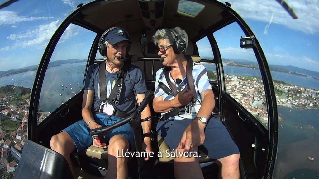 ¡Benita cumple su sueño!: A sus 77 años conoce la isla de Sálvora desde el aire