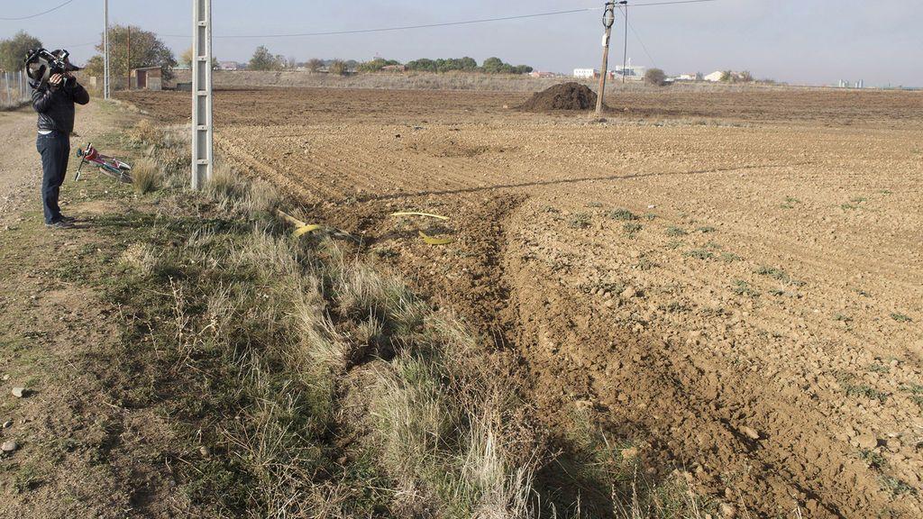 Lugar donde se produjo el accidente de tráfico en Zamora