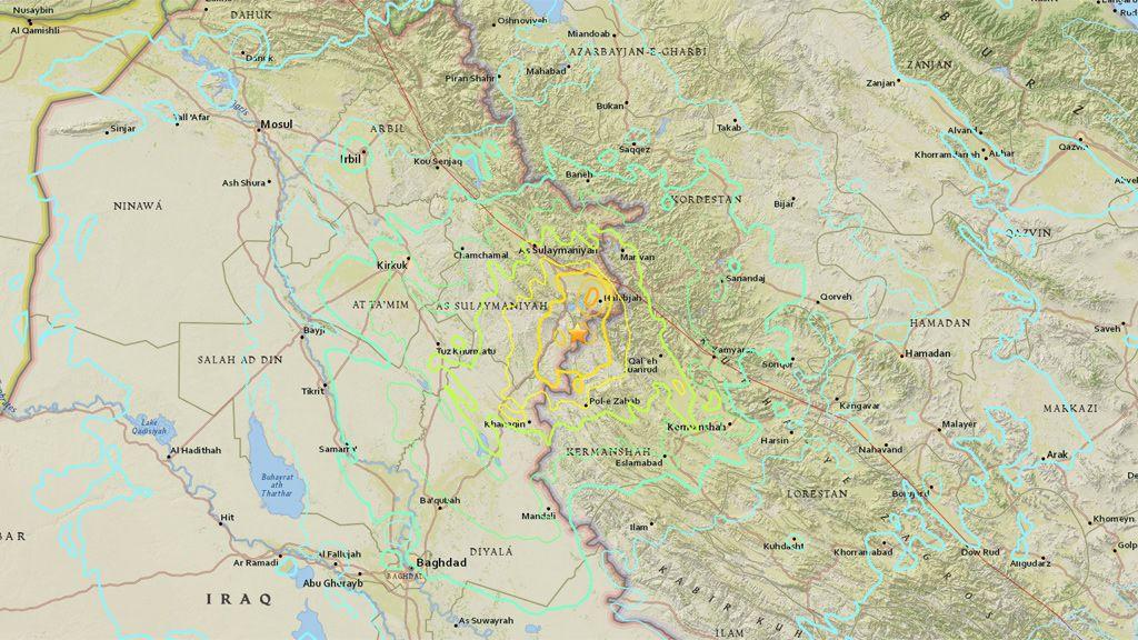 Un terremoto de intensidad 7,2 en la escala de Richter sacude la frontera irano-iraquí