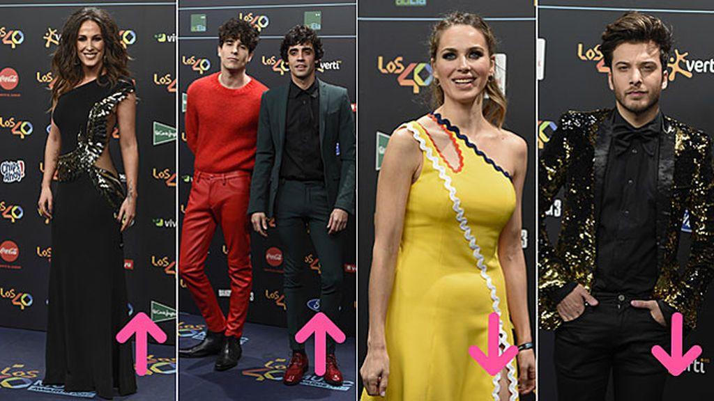Aciertos y errores en la Red carpet 40 Principales Music Awards