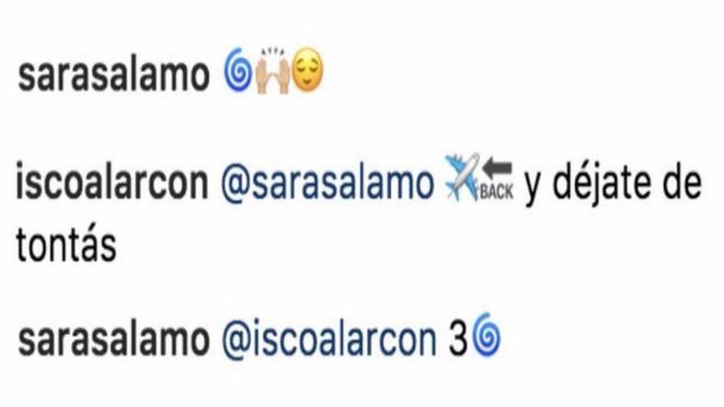 """Isco y Sara Sálamo ya no se esconden: """"Déjate de tontás"""""""
