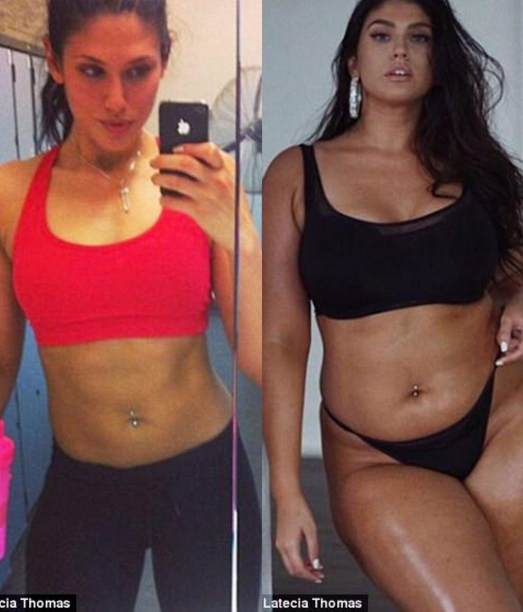 Una modelo de 26 años ha aumentado su peso y ahora es mucho más feliz